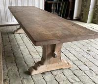 Huge French Bleached Oak Farmhouse Refectory Dining Table (7 of 11)