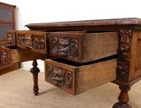 Oak Desk Green Man 19th Century (11 of 13)