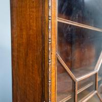 Mahogany & Burr Walnut Glazed Bookcase (10 of 11)