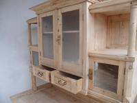 Original Arts & Crafts Antique Pine Glazed Kitchen Dresser to paint / wax (7 of 10)