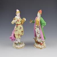 Pair of Samson Porcelain Figures of Ottomans / Turks after Meissen (2 of 13)