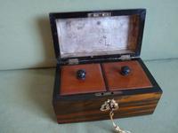 Dome Top Twin Tea Caddy - Original Lids c.1890 (3 of 6)