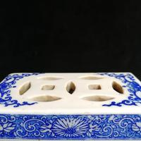Antique Qing Dynasty Chinese Blue & White Opium Pillow (6 of 7)