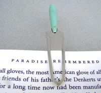 Unusual George V Silver & Pale Green Bakelite Bookmark by Charles Horner, Chester 1912 (5 of 6)