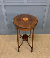 Fine Quality Oval Inlaid Mahogany Occasional Table (15 of 16)