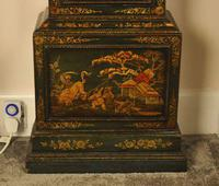 Windmills Green Lacquer Chinoiserie Longcase Grandfather Clock (7 of 10)
