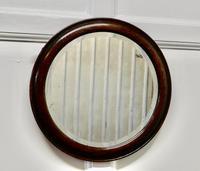 19th Century Round Oak Wall Mirror (2 of 3)