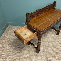 Stunning Carved Oak Victorian Antique Hall Table (6 of 8)