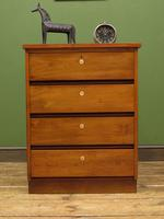 Small Vintage Haberdashery Chest of Drawers, Post Office Chest with Numbers (3 of 18)
