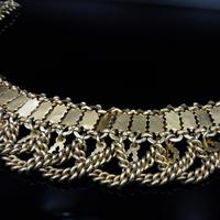 Vintage Aesthetic Gold on Sterling Silver Heavy Fancy Swag Collar Necklace (5 of 7)