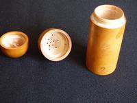 Boxwood talcum holder or pounce pot (10 of 10)