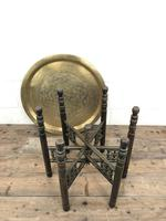 Early 20th Century Middle Eastern Brass Tray Top Folding Table (3 of 8)