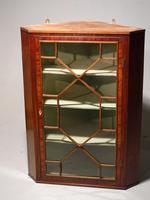 Pretty George III Period Mahogany Glazed Corner Cupboard (4 of 4)