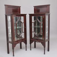 Pair of Early 20th Century Mahogany Display Cabinets (2 of 9)