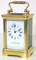 Antique Miniature 8 Day Carriage Clock by Walters & George Regent Street Rare (10 of 14)
