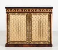 Amazing Rosewood and brass inlaid side cabinet (9 of 9)