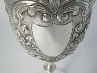 Edwardian Silver Goblet with Knobbed Stem & Plain Splayed Circular Foot (3 of 6)