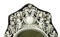 """Antique Victorian Sterling Silver 9"""" Photo Frame 1898 (11 of 11)"""
