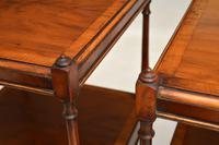 Pair of Antique Georgian Style Yew Wood Side Tables (14 of 14)
