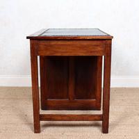 Edwardian Oak Pedestal Writing Desk (4 of 12)