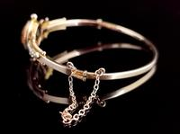 Antique Victorian Citrine & Pearl Bangle, 9ct Gold (8 of 14)