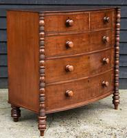 Fine Quality, Georgian Mahogany Bow Fronted Chest of Drawers (15 of 16)