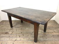 Early 19th Century Oak Kitchen Table (2 of 12)