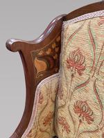 Art Nouveau Mahogany Inlaid Salon Settee (3 of 5)