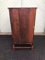 Antique Slim Glazed Oak Bookcase (11 of 11)