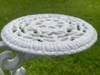 Victorian 19th Century Garden Cast Iron Painted White 6 Branch Plant Stand (18 of 47)