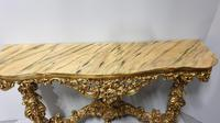 Carved Wood Gilt Console Table (16 of 17)