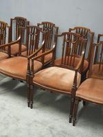 Set of 8 Hepplewhite Style Dining Chairs (11 of 11)