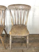 Set of Four Antique Farmhouse Kitchen Chairs (12 of 14)