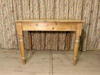 Victorian Pine Kitchen Table c.1860 (8 of 8)