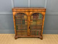Good Burr Walnut Glazed 2 Door Bookcase (7 of 15)