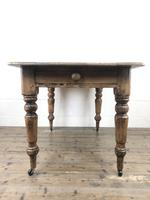 Antique Pine Farmhouse Kitchen Table with Drawer (11 of 13)