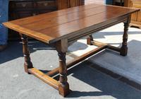 1960's Heavy Oak Refectory Table (2 of 6)