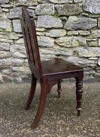 Antique Gothic Oak Hall Chair (7 of 13)