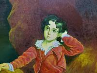 After: Sir Thomas Lawrence 'The Red Boy' Large Portrait Oil Painting (4 of 10)