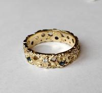 Franklin Mint 14ct Gold Eternity Ring Sapphires and Diamonds (2 of 8)
