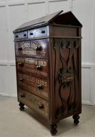 Large Victorian Mahogany Shop Display Music Cabinet (3 of 18)