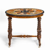 Victorian Walnut & Pietra Dura Table (6 of 16)