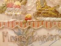 Early 20th century embroidered silk greetings cards (5 of 16)