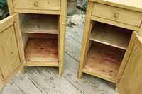 Cute & Quality Old Stripped Pine Bedside Cabinets (6 of 9)