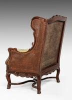 Early 20th Century Mahogany Framed Bergere Chair (3 of 4)