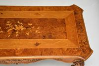 French Style Burr Walnut Inlaid Marquetry Coffee Table (6 of 10)