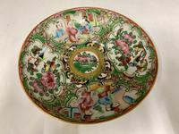 Antique Famille Rose Oriental Porcelain Saucer c.1810 (3 of 5)