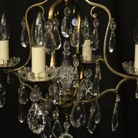 French Gilded 4 Light Cage Antique Chandelier (5 of 10)
