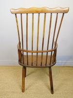 Charming 18th Century Yew Wood Comb Back Chair (10 of 10)
