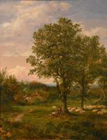"""Oil Painting by Mark Edwin Dockree """"Pastoral scene near Dedham"""" (3 of 5)"""